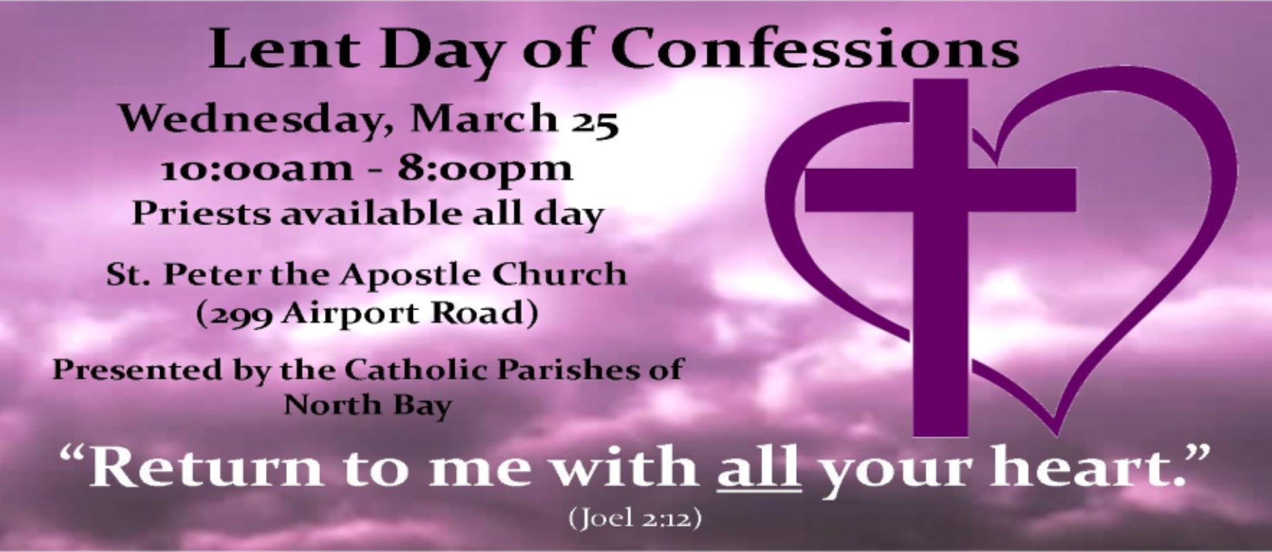 Lent Day of Confessions