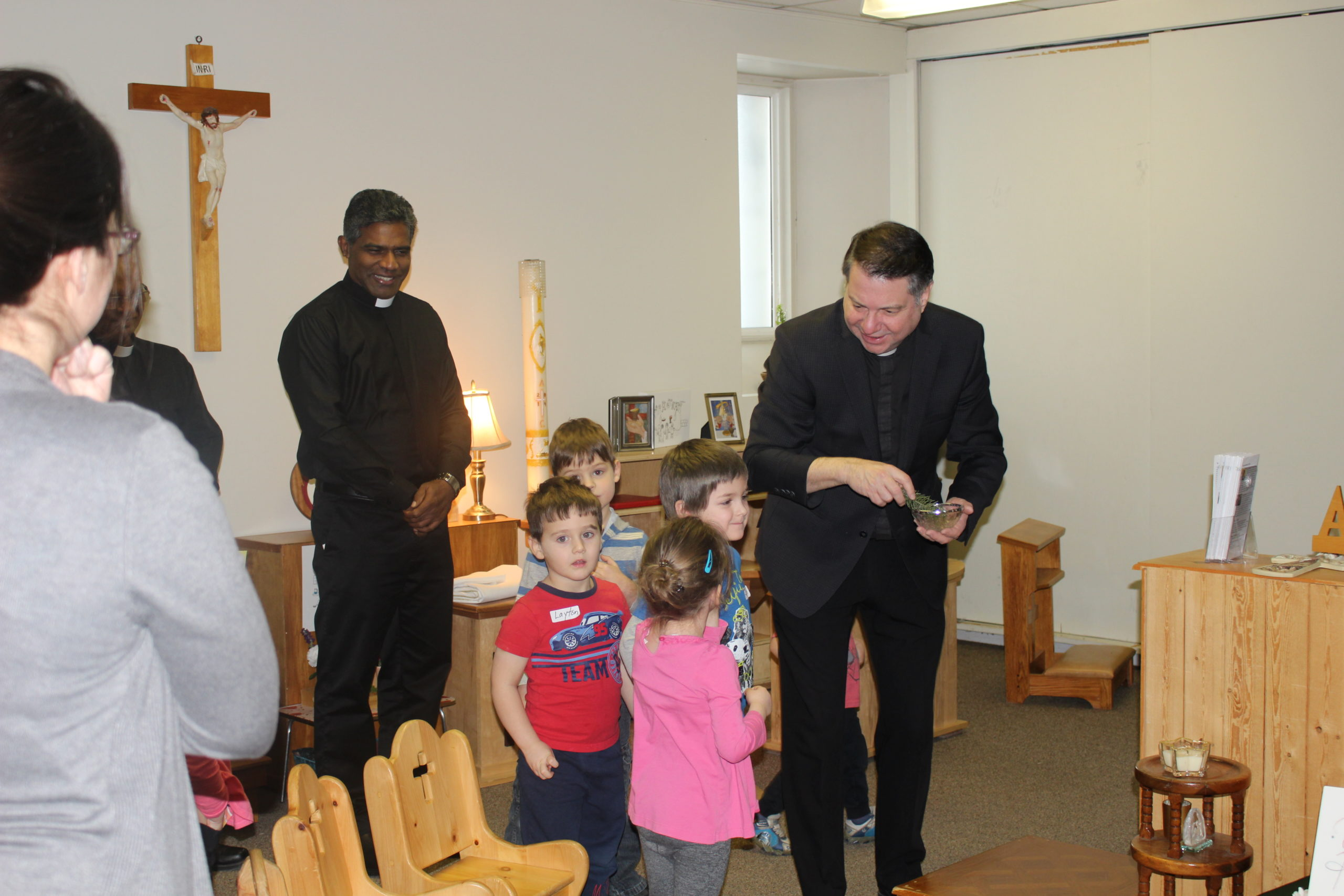 Msgr. Dave Blessing Atrium with Children
